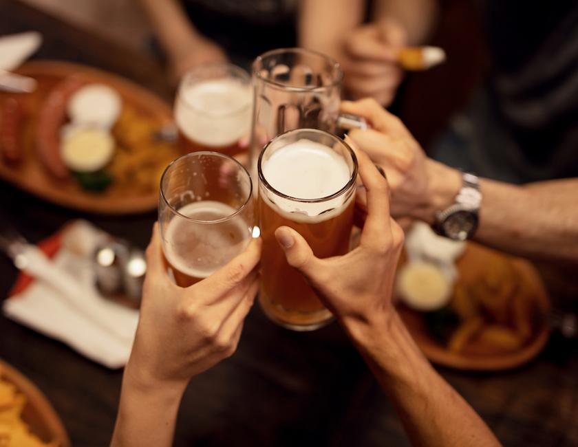 friends cheering their beers Myrtle Beach