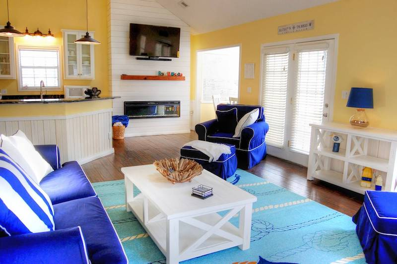 A living room of a Myrtle Beach vacation rental