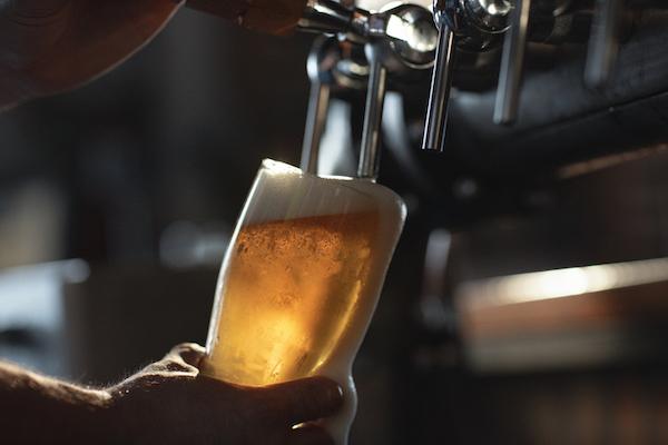 Enjoy a beer at Cafe Vienna